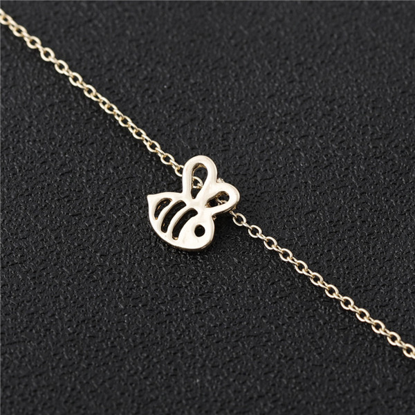 Tiny Honey Bee Necklace Bumble Bee Necklace Queen Bee Necklaces Cute Insect Necklaces Bumblebee Beehive Necklaces