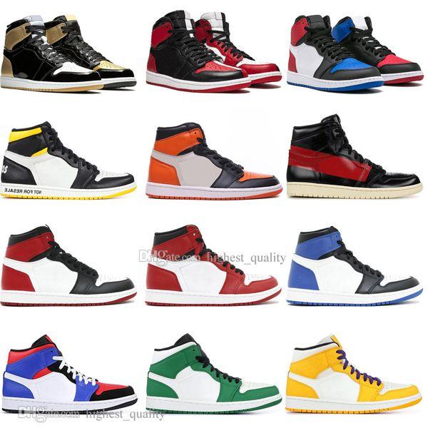 Hot 1 OG Banned Bred Toe Black Spider-Man UNC 1s top 3 Men Basketball Shoes Homage To Home Royal Blue Mens Sports Designer Sneakers Outdoor