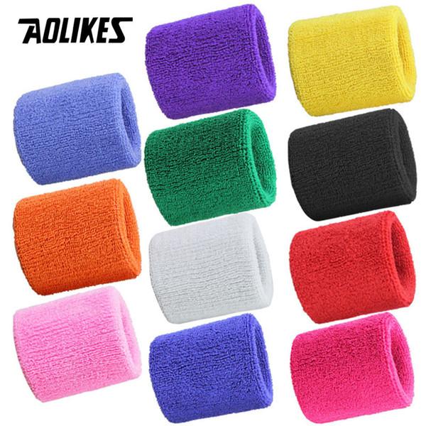 AOLIKES 1PCS Wrist Brace Support Wrap Tennis Wristband Sport Sweatband for Gym Basketball Volleyball Hand Sweat Band Polsband