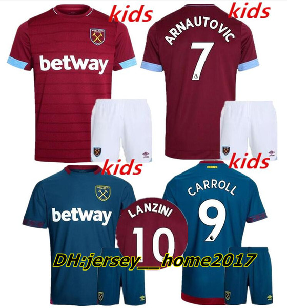 outlet store 89358 e1df4 2019 Kids Kit 2018 2019 West Ham United Home Soccer Jersey 18 19 CHICHARITO  Football Jerseys CARROLL Mario Arnautovic Child Shirt BOYS Lucas From ...