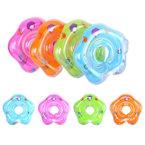 Newest Swimming Baby Ring Neck Bathing Safety Circle Ring Float Tube Neck Inflatable Infant For Baby Accessories Swim