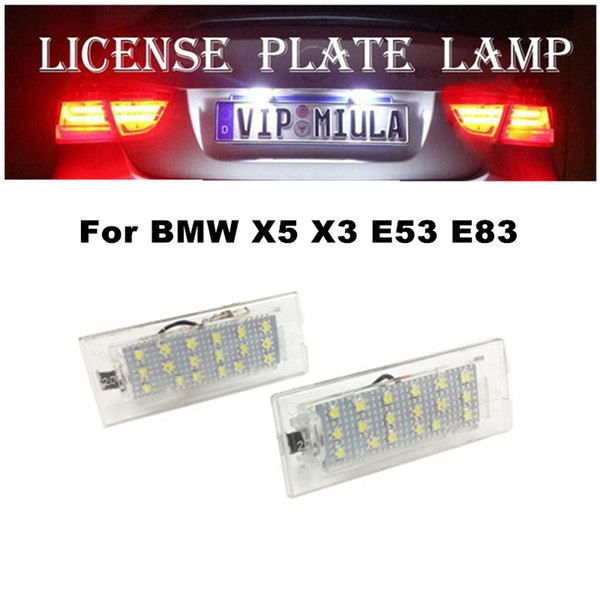 top popular License Plate Lamp For BMW X5 X3 E53 E83 BJ 2003 2006 6000K 18SMD 12V For BMW X5 Light LED Car Accessories 2021