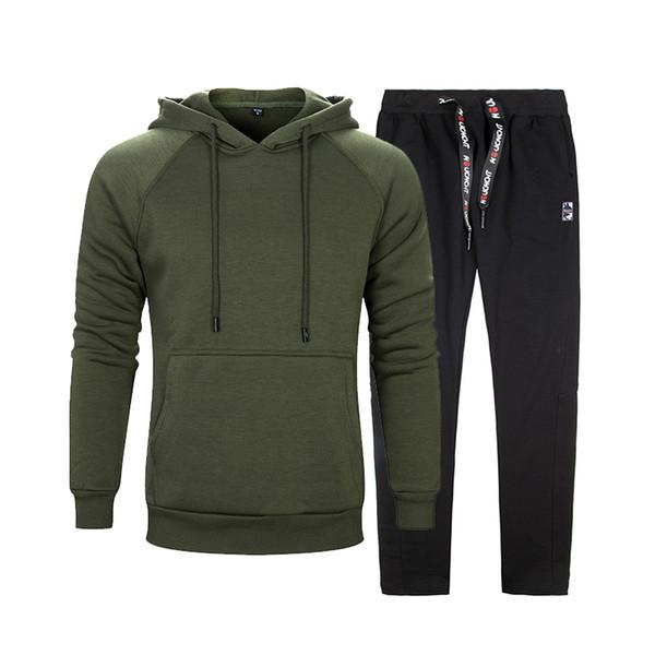 Sweatshirt Tracksuits Men Set Sportswear Long Sleeve 2 pieces Sets Mens Hoodies + Sweatpants Brand Sportswear Survetement Homme