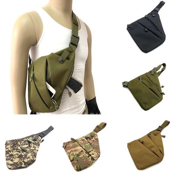 Multifunctional Concealed Tactical Storage Gun Bag Holster Men's Left Right Shoulder Bag Anti-theft Chest Hunting #257953