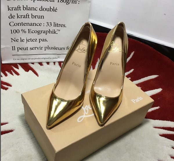 6960eb3c67c Christian Louboutin CL 2019 Fashion Luxury Designer Women Shoes Red Bottom  High Heels Red Leather Pointed Toes Pumps Dress Shoes Q1 The Following T ...