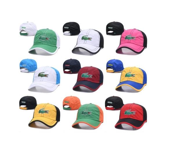 425f6d0851e8f9 Designer Hats Caps Mens Womens Baseball Cap for Mens Brand Cap Adjustable  Designer Crocodile Embroidery Hats 9 Colors Optional