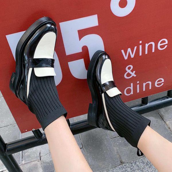 2020 neue Luxus-Frauen-beiläufige Schuh-Designer-Marken-Dame hohe Art und Weise OL Büro-Dame Weiß Echtes Leder beleuchteter Street Style 99171CE