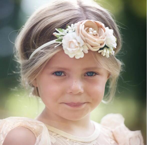 Europe Baby Girls Floals Headband Kids Flower Crown Photography Props Hair Band Simulation Floals Hair Band Hair Accessory 3pcs/set A326