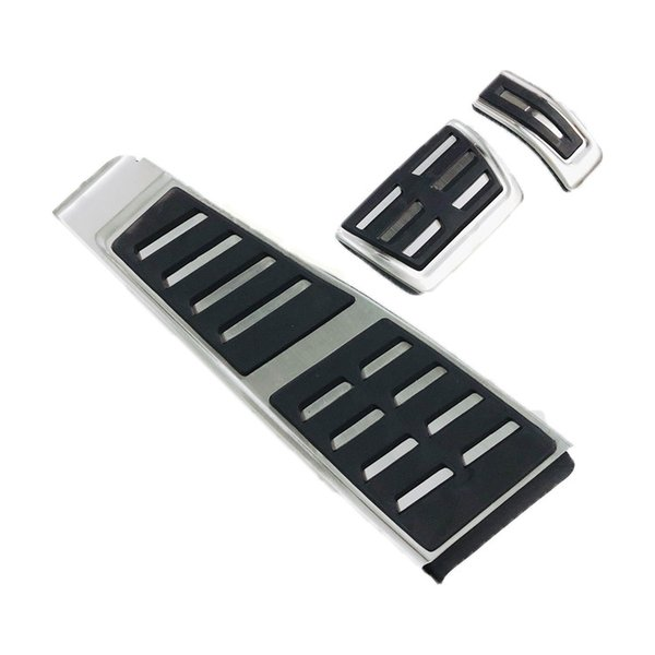 Car Pedals For Audi A5 A4 B8 8K Q5 8R Brake Foot Rest RHD AT Pedal Plate Accelerator Refit Pads Decoration Stickers