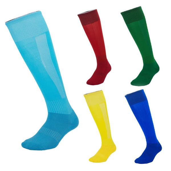 Professional Elite Anti-skid Football Socks Kids Adults Cotton Long Stocking High Knee Socks Basketball Climbing Running Jogging M115Y