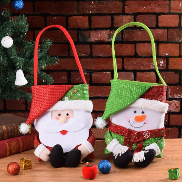 Christmas Gift Decoration Christmas Candy Bag Gift Handbag Closet Door Window Decoration For Home Bars Shopping Malls
