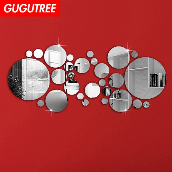 Decorate Home 3D round cartoon mirror art wall sticker decoration Decals mural painting Removable Decor Wallpaper G-270