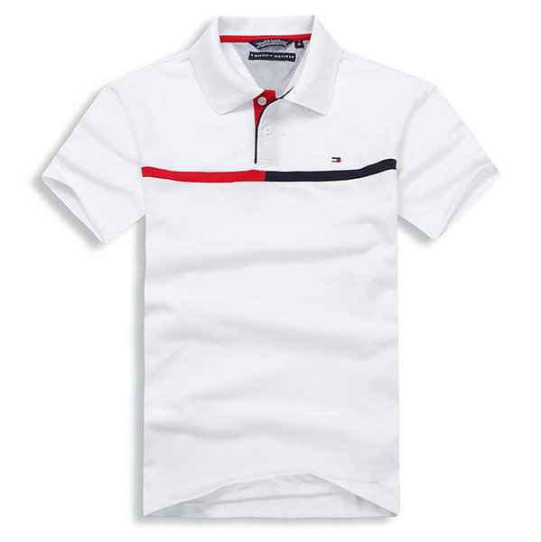 Wholesale-2018 Sommer-heißer Verkaufs-Polo-Hemd USA-amerikanische Flagge Marken-Polos-Mann-Kurzschluss-Hülsen-Sport-Polo-Mann-Mantel-Tropfen geben Verschiffen frei