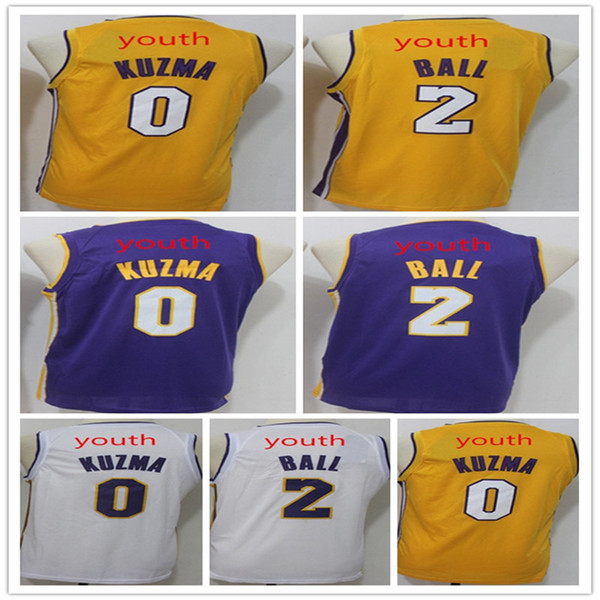 pretty nice 07268 7f35e 2019 2018 New Kuzma Ball KiIDS Basketball Jersey Youth Kid 2# Lonzo Ball  Shirts Embroidery 0# Kyle Kuzma Jerseys From Dong19891020, $22.22 | ...