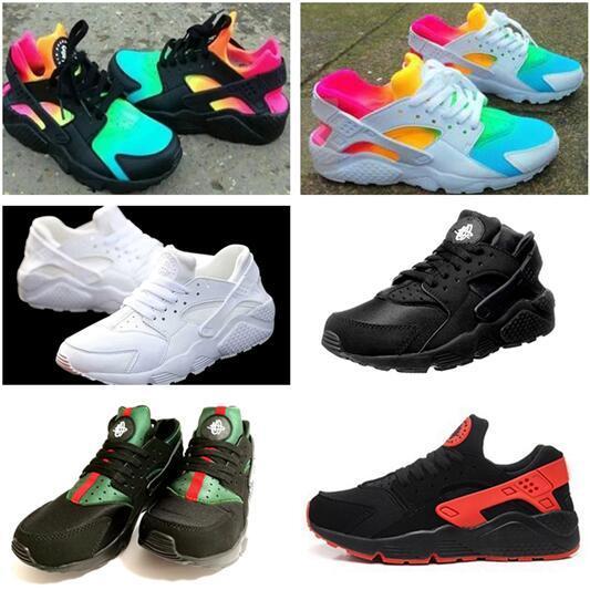 Fashion Air Huarache Ultra casual Shoes Huaraches Rainbow Ultra Breathe Shoes Big kids Men & Women Huraches Multicolor Sneakers