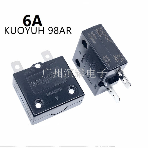 best selling Taiwan KUOYUH 98AR-6A Overcurrent Protector Overload Switch Automatic Reset