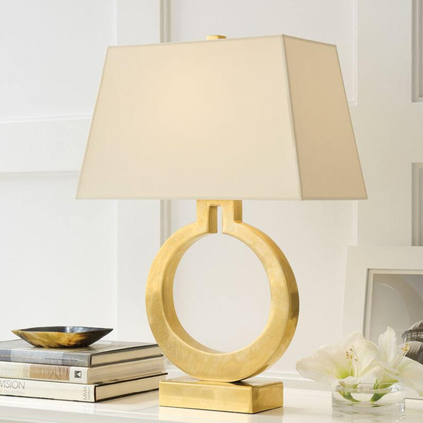 Nordic stylist bedside lamp metal model room decoration sitting room study bedroom gold iron warm Taiwan lamps and lanterns