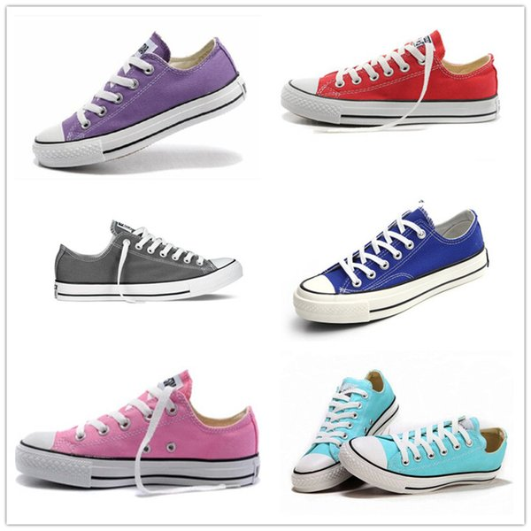 size 35-46 New Unisex Low Style Adult Women Mens Canvas Shoes Laced Up Casual Shoes Sneaker 14 Colors Drop Shipping Top