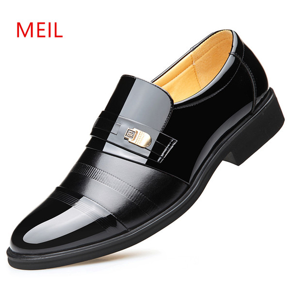 e5f622d8488 Height Increasing 6CM Elevator Office Shoes Men Oxfords Elegant Men Formal Dress  Shoes Leather loafers 2019 Bridegroom