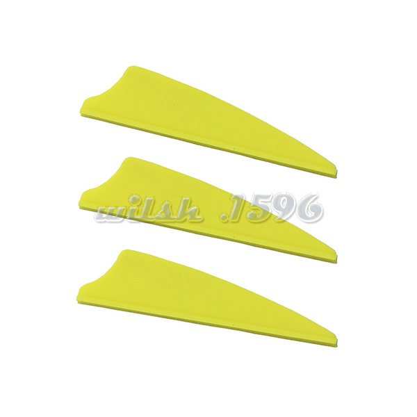"100pcs Hunting Archery Bow 1.75/'/'~4/"" Shield Plastic Arrow TPU Fletching Vane"