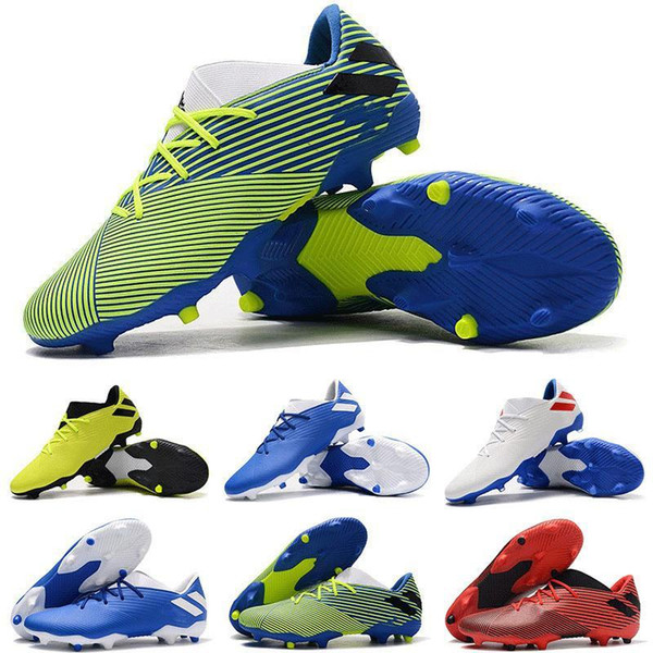 New 2019 Arrival Mens Nemeziz 19.3 Fg Football Boots High Quality Messi 360 Agility Knit Indoor Soccer Cleats Shoes Fast Shipping Size39-45