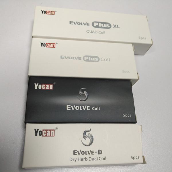 best selling Authentic Yocan Replacement Coils For Yocan Evolve Evolve Plus Wax Vape Pen Evolve-D QDC Quartz Dual Coil