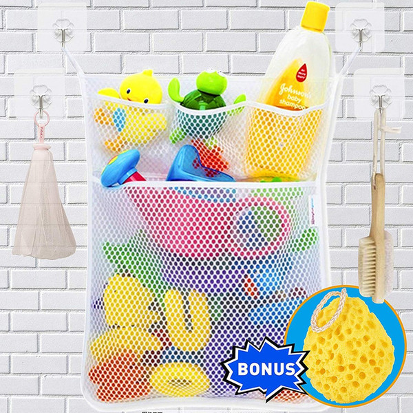 Baby Bath Time Toy Tidy Hanging Storage Bag Mesh Home Bathroom Organiser Net ON