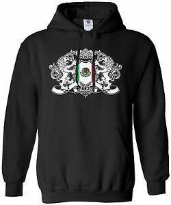 ThreadroCuCustomom Men 039 s Mexico Lion CreCustom Flag Hoodie Sweatshirt Mexican Shield