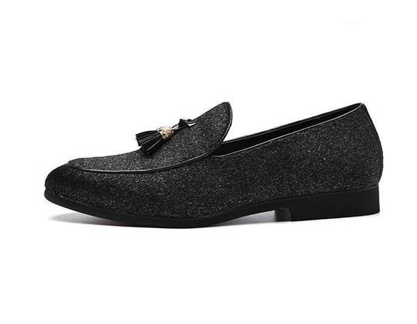 Newest Men's British designer tassel flats charm shoes Male Wedding Dress Evening oxford Formal Shoes Sapato Social Masculino