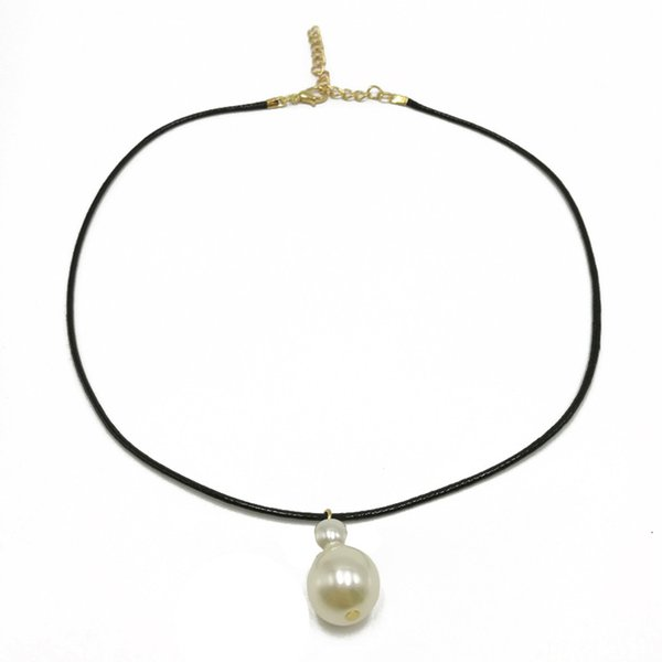 Wholesale Simple Pearl Choker Necklace For Women Girls Cultured