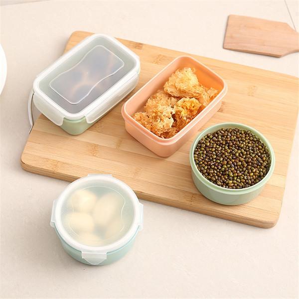 Cuisine Réfrigérateur Entreposage des épices Conteneur pour le déjeuner Garder les aliments au sec et au frais Boîte de conservation des aliments durable Organisation avec couvercles