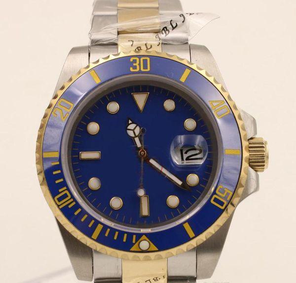 мужские часы с механическим автоматическим механизмом часы sub Mans часы 40 мм сапфировое стекло золото с серебряным ремешком мужские часы