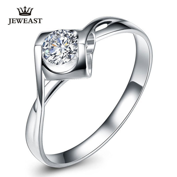 Natural Diamond Ring 18k Gold Women Lover Couple Anniversary Romantic Propose Engaged Wedding Party South African 2017 New Good C19032101