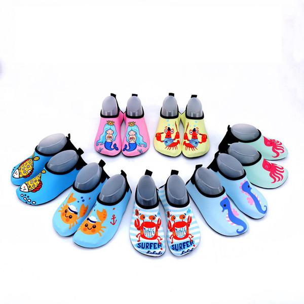 Children Beach Shoes Summer Kids Slippers Non-slip Breathable Boys Girls Baby Swimming Wading Shoe Indoor Soft Socks PPA413