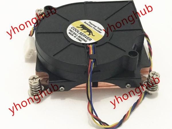 Emacro For COOLSERVER B127515BU 2011 1U 2U DC 12V Copper Radiator CPU Heat Sink Fan