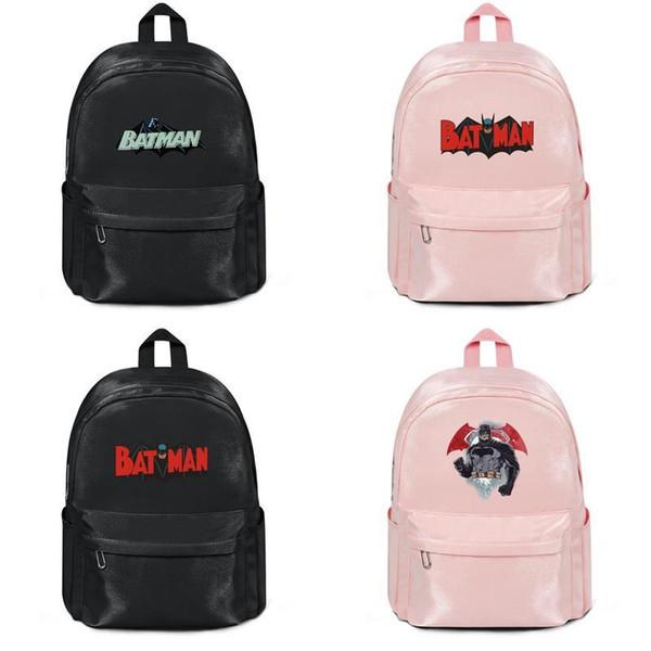 Batman Hush Logo Klip sanat Yeni 2019 adam kadınlar için Spor Sırt Çantası gençlik Tuval sırt çantası Sınırlı Sayıda Bookbag siyah Seyahat Açık Çanta