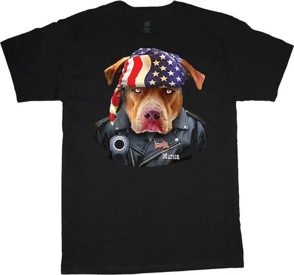Big and Tall t-shirts American flag bandana pitbull biker 2nd amendment tee custom t funny cool design your own customized