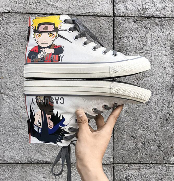 Hot Sale Naruto Canvas Shoes Cool Printed Breathable Shoe for Halloween party Japan anime canvas Shoes