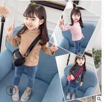 Vêtements pour enfants style hiver 2019 nouvelle édition coréenne coton chemises à manches longues en coton rayé pour bébé au printemps et