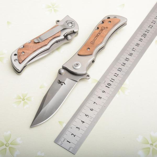 Браунинг 339 Нож Выживания Деревянной Ручкой Складные Карманные Ножи Тактическая Папка Утилита Кемпинг Охотничий Нож Открытый передач Подарки J105M Y