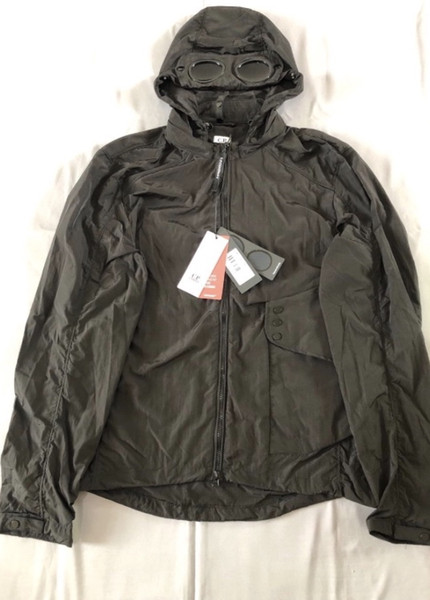 Two glasses Metal Nylon CP COMPANY jacket casual men windbreaker outdoor hoodies Luxury Designer Blinkers Jacket size M-XXL