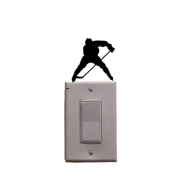 Ice Hockey Fashion Sport Vinyl Wall Decal Light Switch Sticker