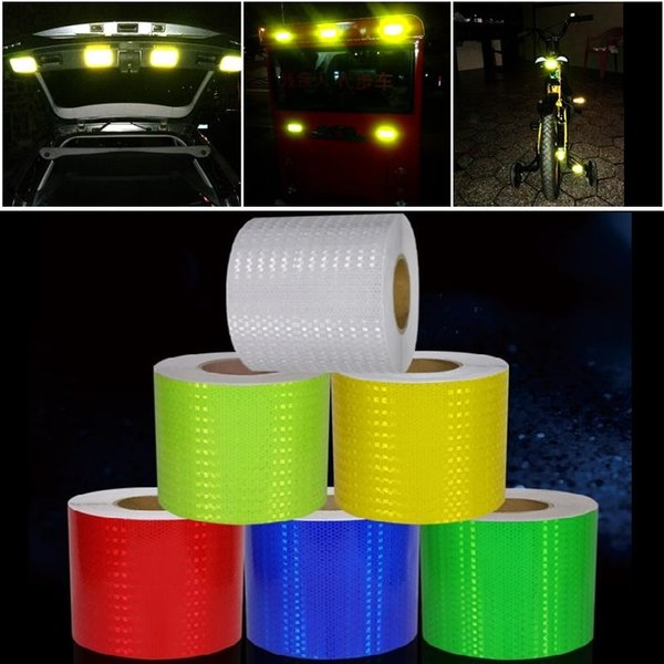 best selling 15CM*3M Super Reflective Car Decoratiive Sticker PVC Reflective Self-adhesive Sheeting Road Traffic Warning Sign Safety Tape