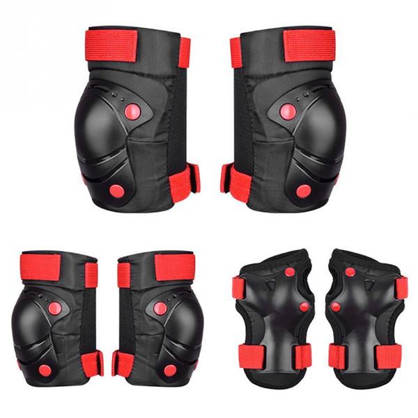6pcs / set Skating Ski bicicleta Protective Gear Set cotoveleiras bicicleta Skate Patim de rolo Knee Protector Para caçoa o presente