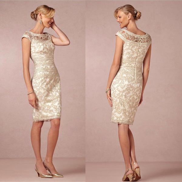 Custom Made Champagne Bainha Mãe da noiva vestido 2020 Mãe partido do laço Curto Formal Vestido Plus Size Pageant Vestido