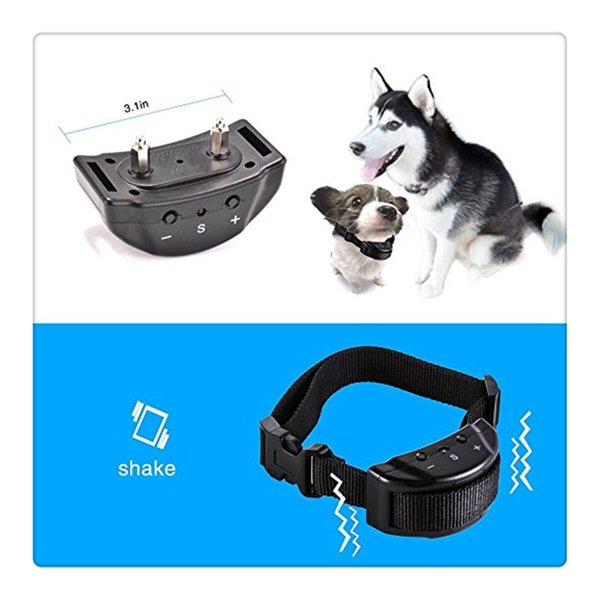 No Bark Dog Training Collar Harmless Rechargeable and Rainproof 330yd Remote Distance Dog Collar For Dogs Electronics