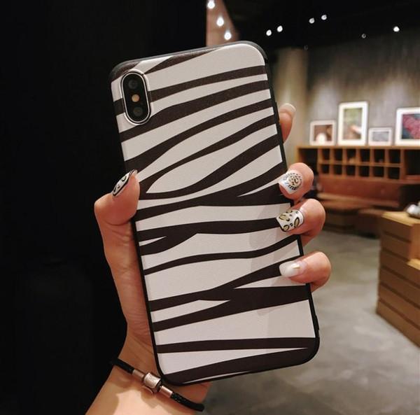 En Kaliteli Leopar desen yumuşak Telefon Kılıfları iPhone XS MAX 8 7 6 Artı telefon kılıfı zebra desen telefon kapak