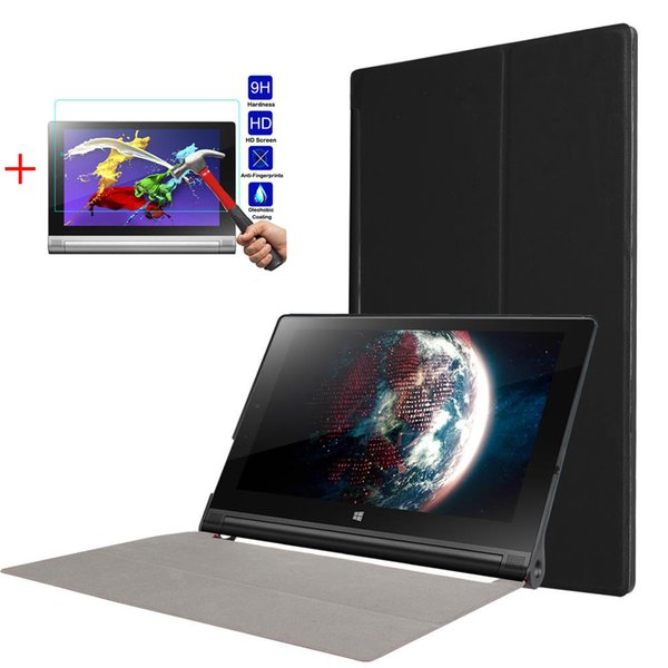 "Ultra Slim Funda Yoga Tab 3 10"" YT3-X50F For Lenovo Yoga Tab 3 10"" YT3-X50F Flip Flio Business Protective Case+Glass+Stylus Pen"