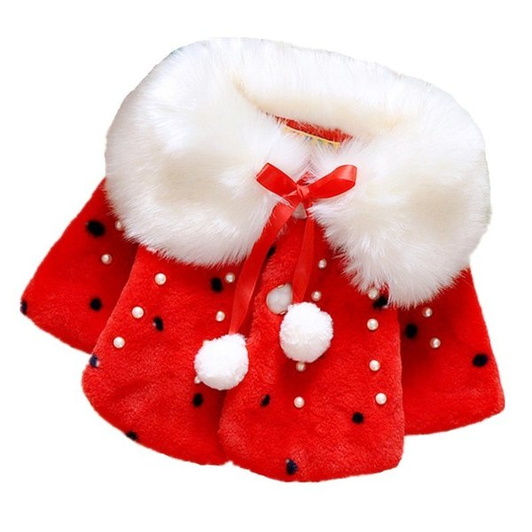 2019 Winter Faux Fur Girls Jackets Baby Coats Clothes Kids Cape Coat Warm Cloak Cardigan Children Clothing Little Girl Outerwear