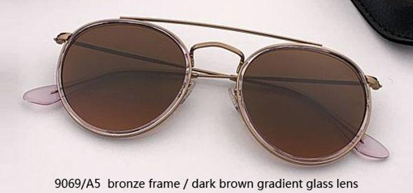 9069/A5 bronze - gradient dark brown